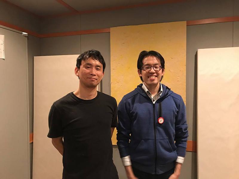 左武岡先生、右ニンジャボット酒井